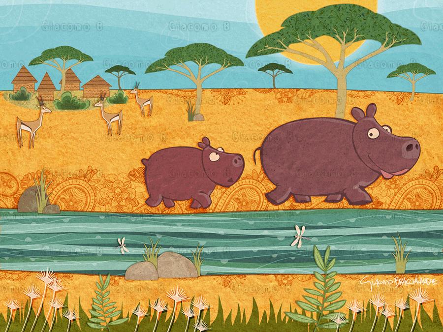 LIttle Hippo - Children's E-Book
