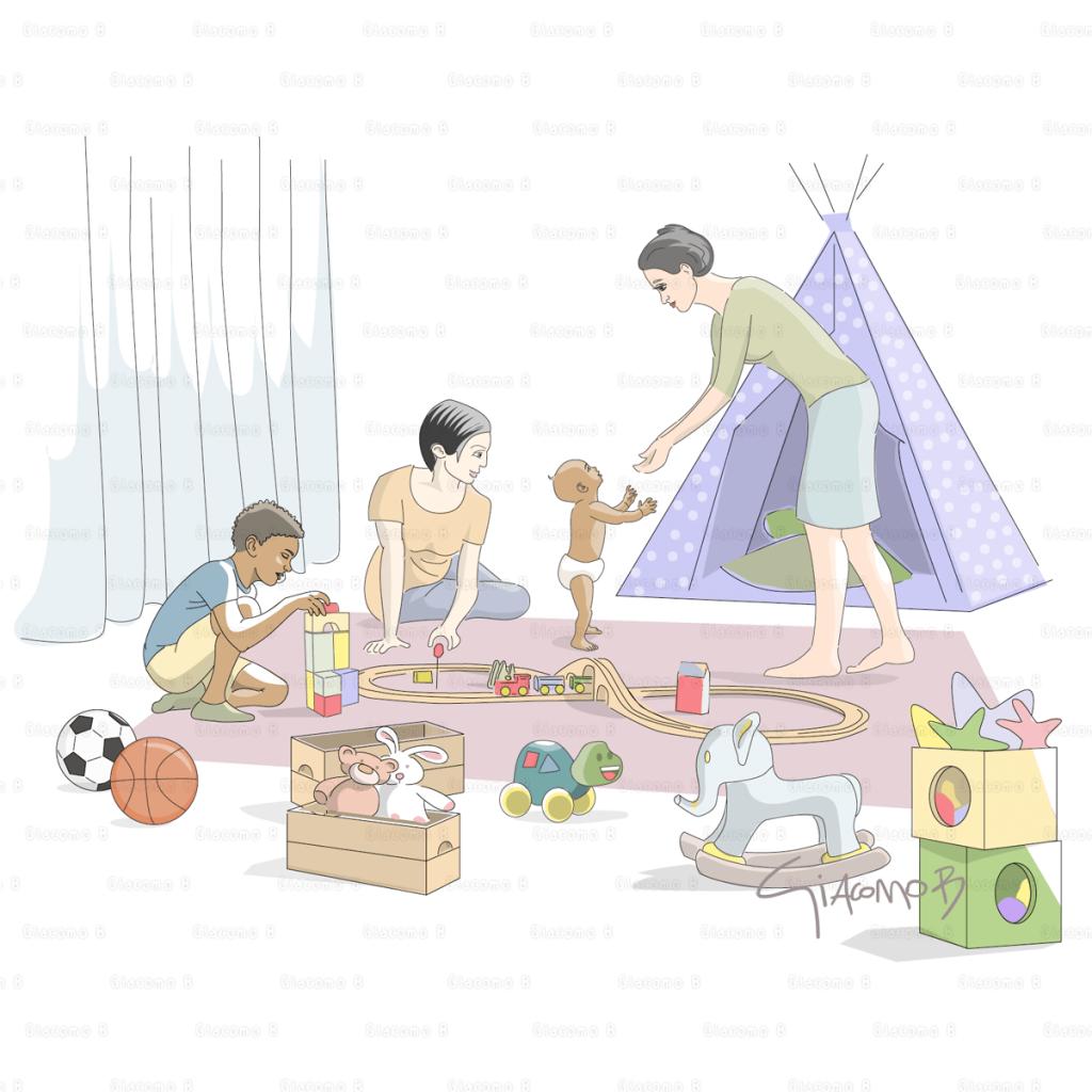 Baby & Toys - Digital Illustration
