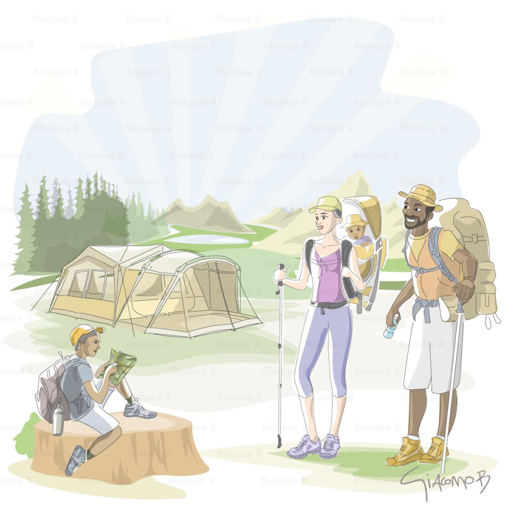 Sports & Outdoors - Digital illustration